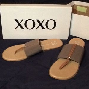 NEW XOXO Taupe Sandals